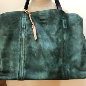 Handbags - FREE PEOPLE/OLD TREND DISTRESSED TOTE (GREEN) NWT